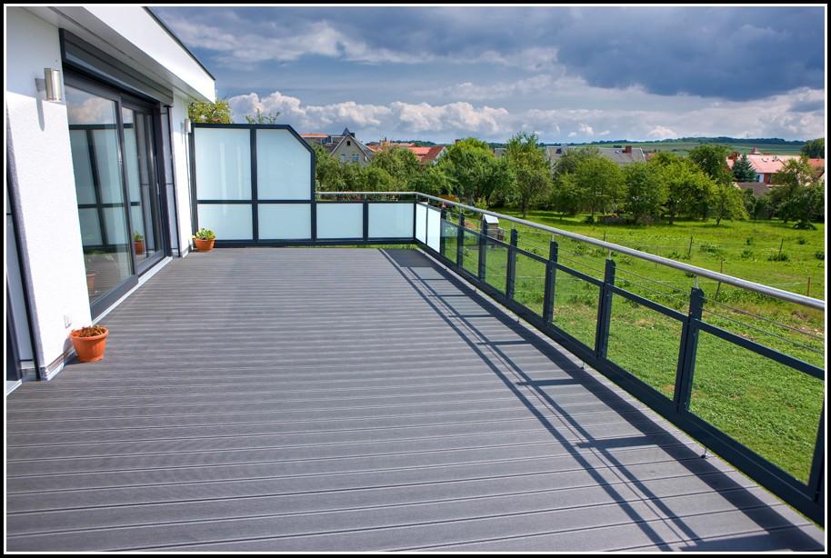 Bodenbelag Balkon Holzoptik