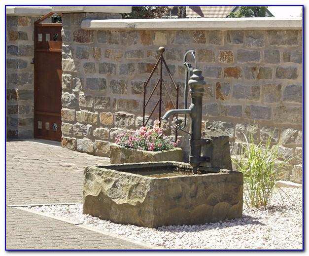 Brunnen Wasserhahn Bronze