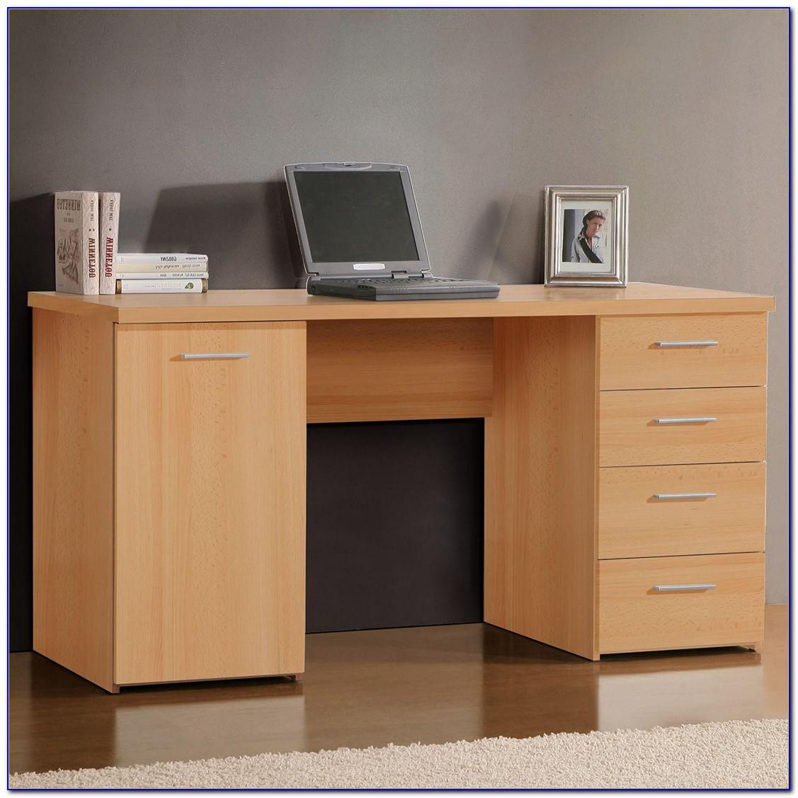 Buche Schreibtisch Mit Aufsatz