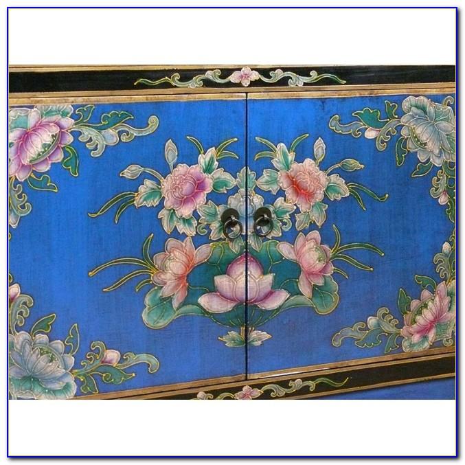 China Kommode Blau