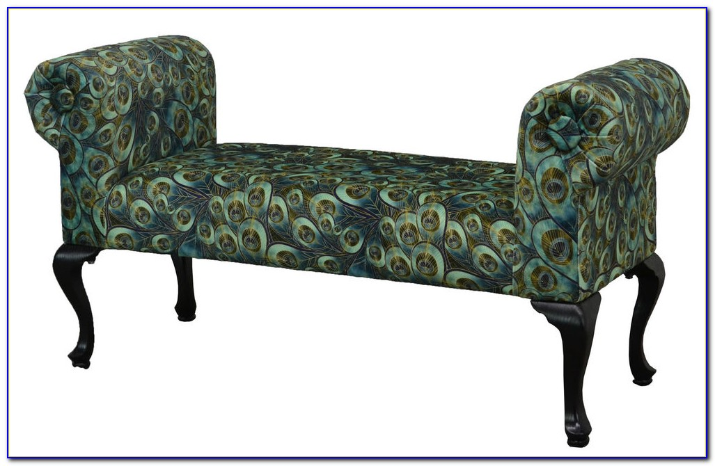 Coaster Upholstered Bench With Rolled Arms