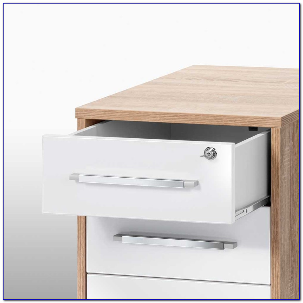 Container Schreibtisch Weiß