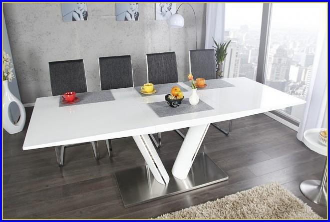 Design Esstisch Ausziehbar Weiß