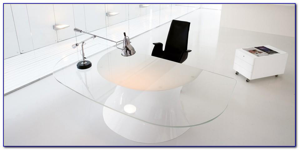 Design Glas Schreibtisch Pc