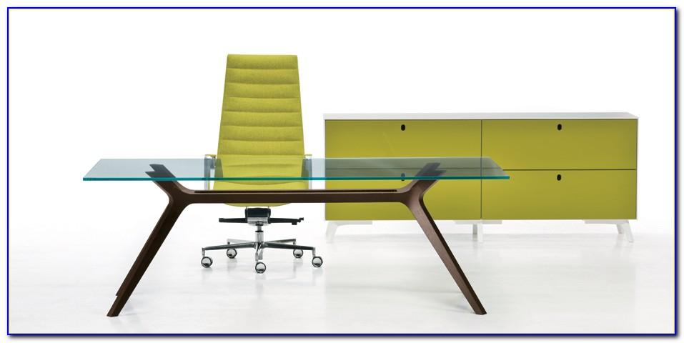 Design Schreibtische Glas