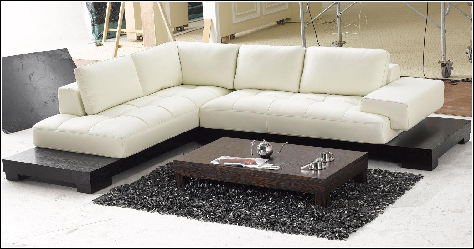 Design Sofa Leder Schwarz