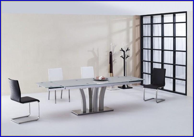 Designer Esstisch Glas Ausziehbar
