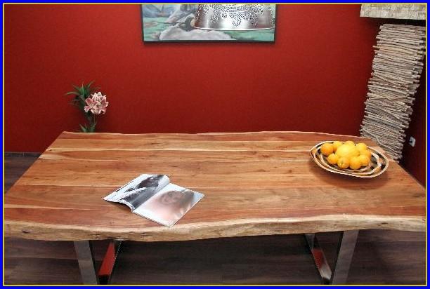 Designer Esstisch Holz Stahl