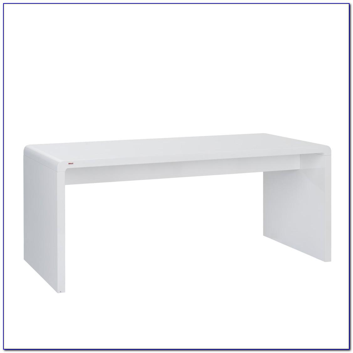Designer Schreibtisch Weiß Hochglanz