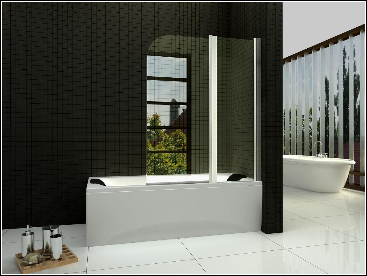 Duschabtrennung Auf Badewanne Glas
