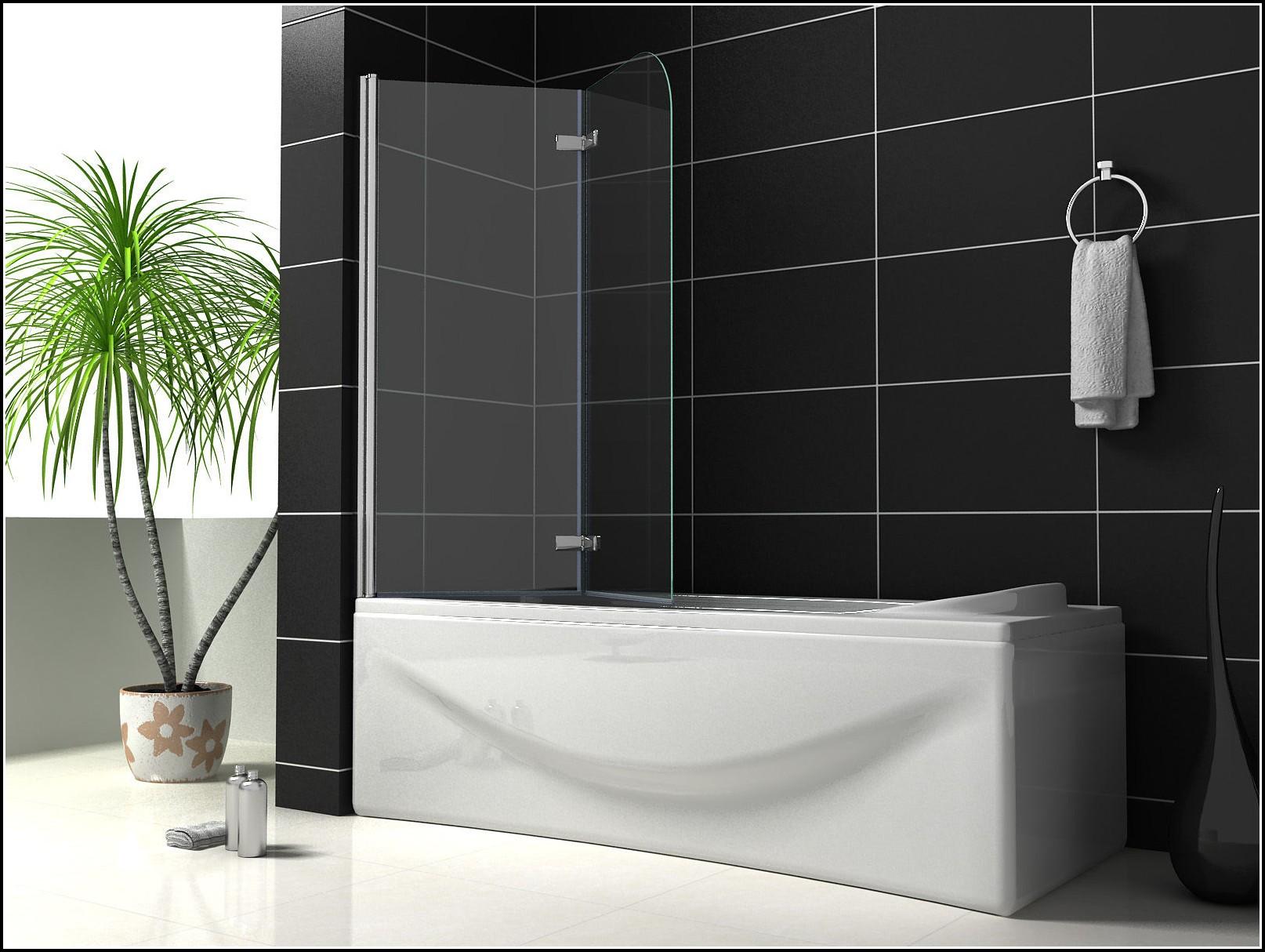 Duschabtrennung Badewanne Duschwand Faltwand Glas