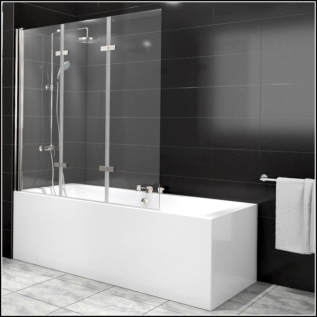 Duschabtrennung Badewanne Glas 3 Teilig