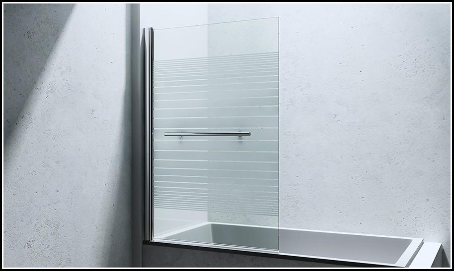 Duschabtrennung Badewanne Glas Einteilig