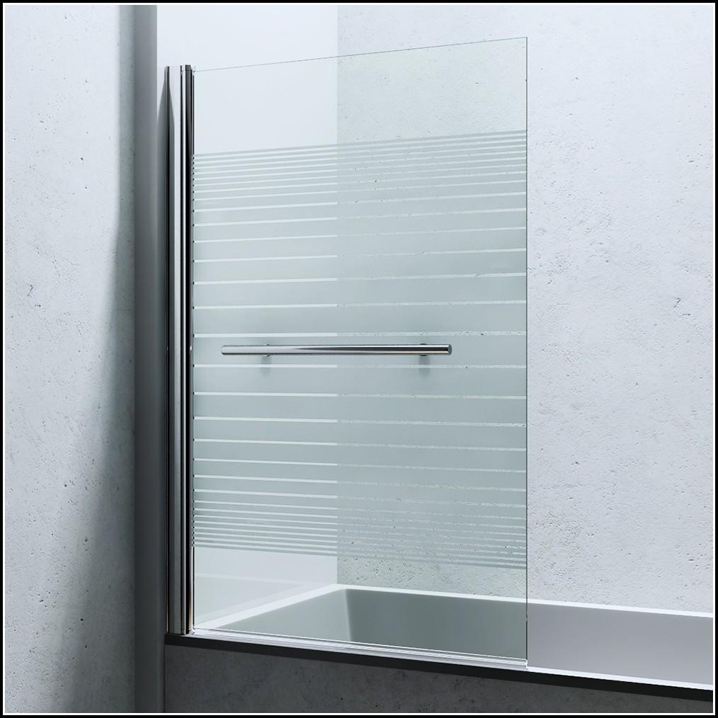 Duschwand Glas Badewannenaufsatz