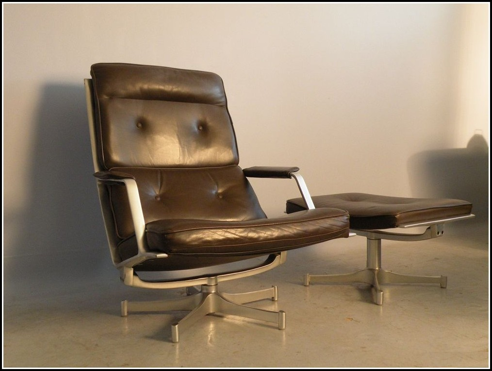Eames Lounge Chair Sessel Mit Ottomane