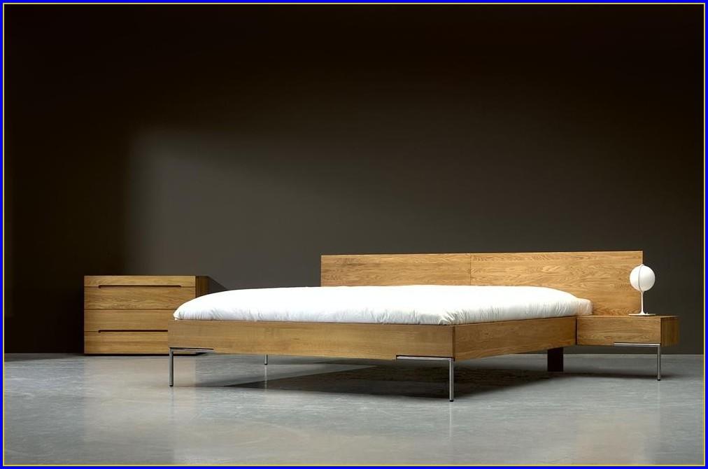 Eiche Massiv Bett Rustikal