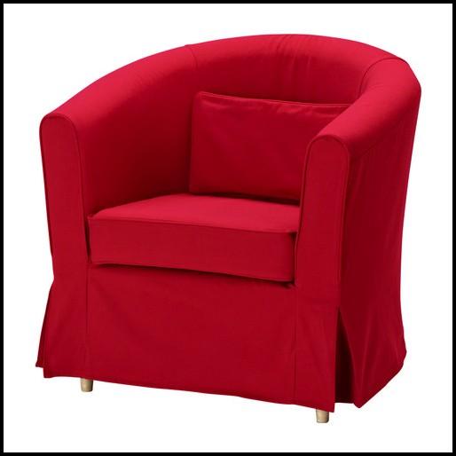 Ektorp Sessel Bezug Rot