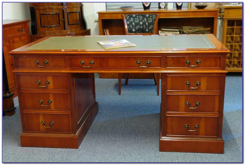 Englischer Schreibtisch Mit Lederauflage
