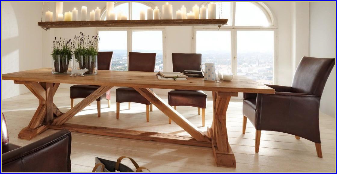 Esstisch Altes Holz Glasplatte