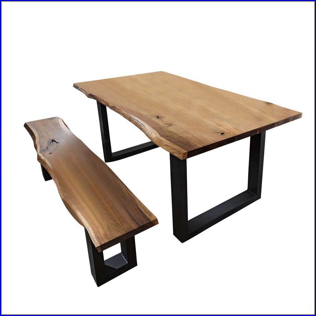 Esstisch Mit Bank Holz