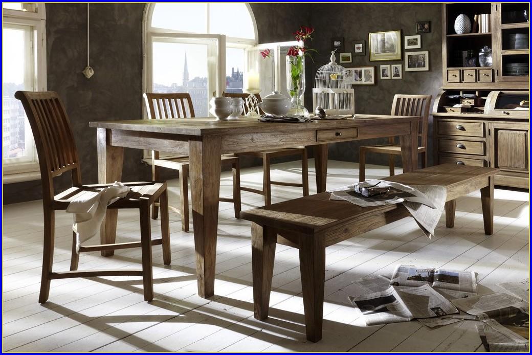 Esstisch Mit Bank Und Stühlen