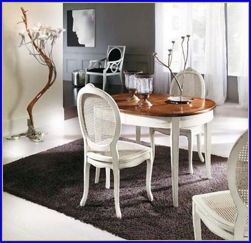 Esstisch Oval Weiß Holz