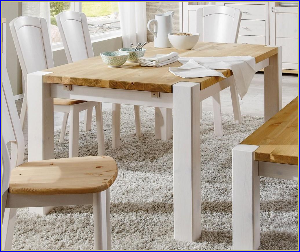 Esstisch Weiß Holz 120