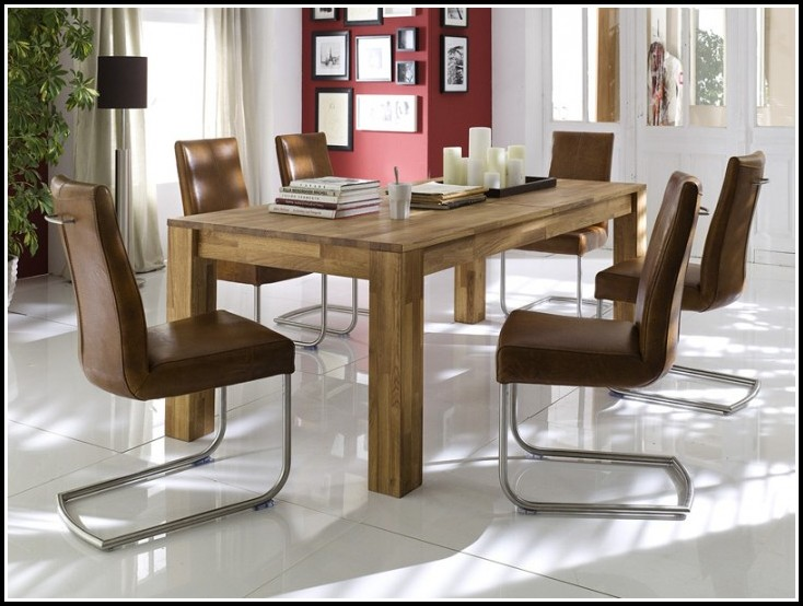 Esszimmer Tische Massiv Ausziehbar