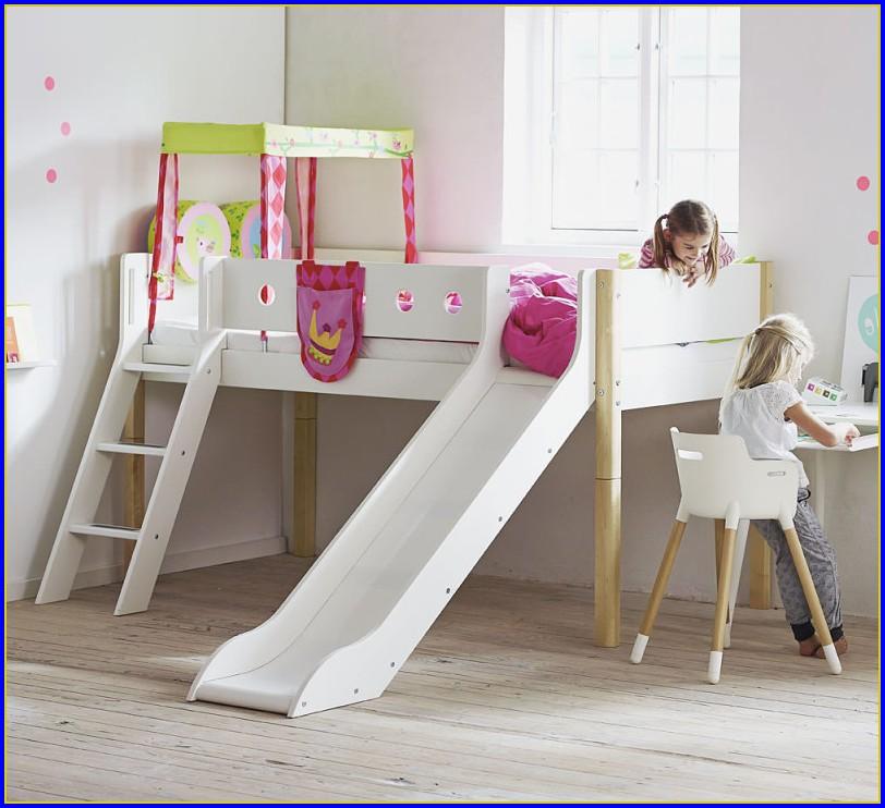 Flexa Halbhohes Bett Weiß Rutsche
