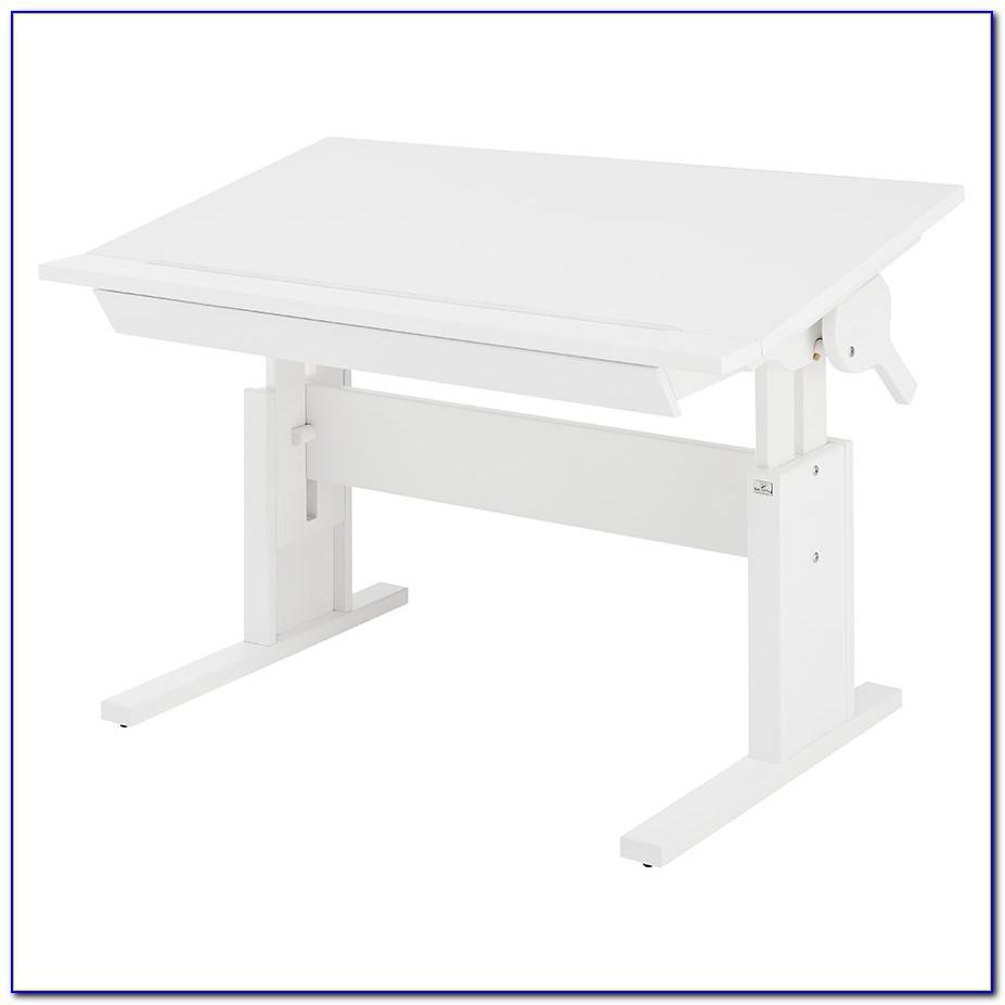 Flexa Schreibtisch Weiß Höhenverstellbar