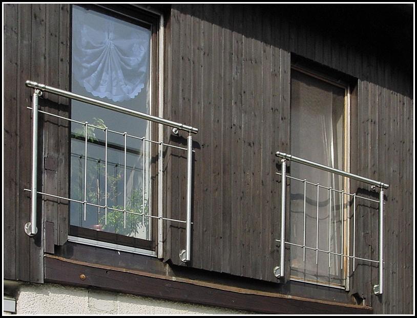 Französische Balkone Edelstahl
