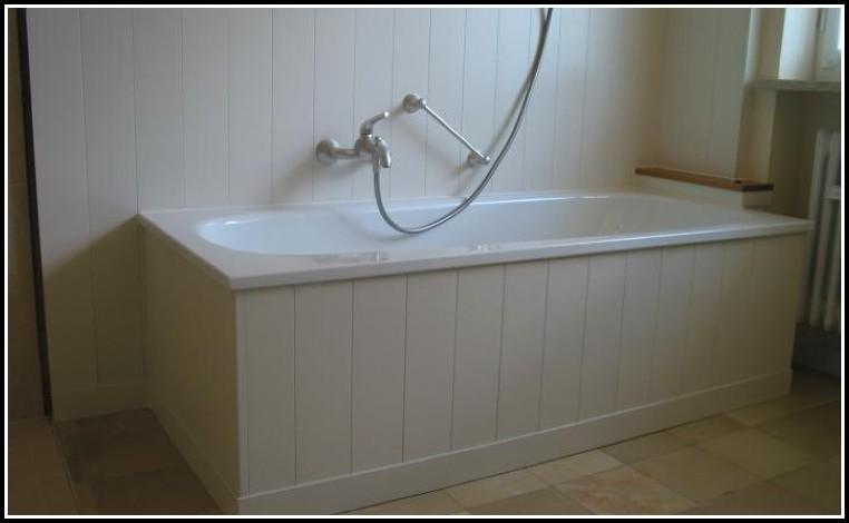 Freistehende Badewanne Mit Holzverkleidung