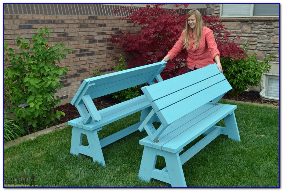 Garden Bench That Converts To Picnic Table