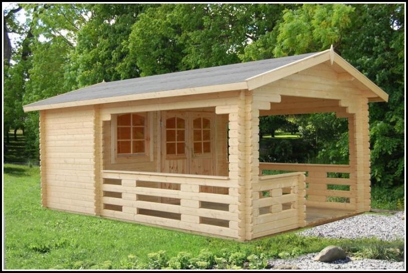 Gartenhäuser Mit Vordach Und Terrasse