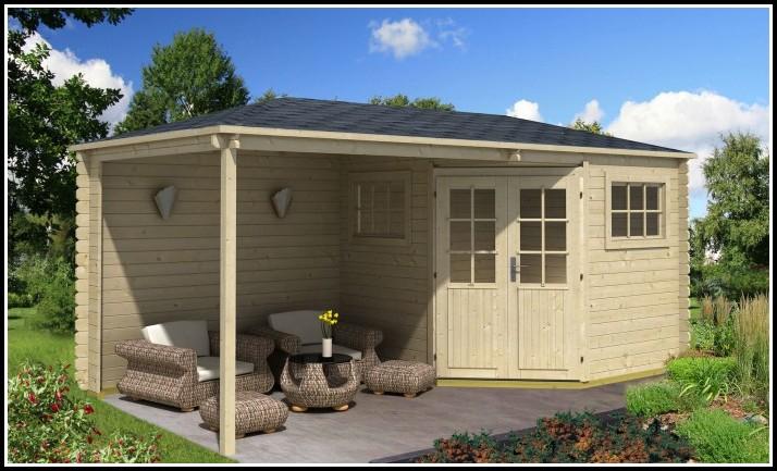 Gartenhaus Mit Terrassenüberdachung
