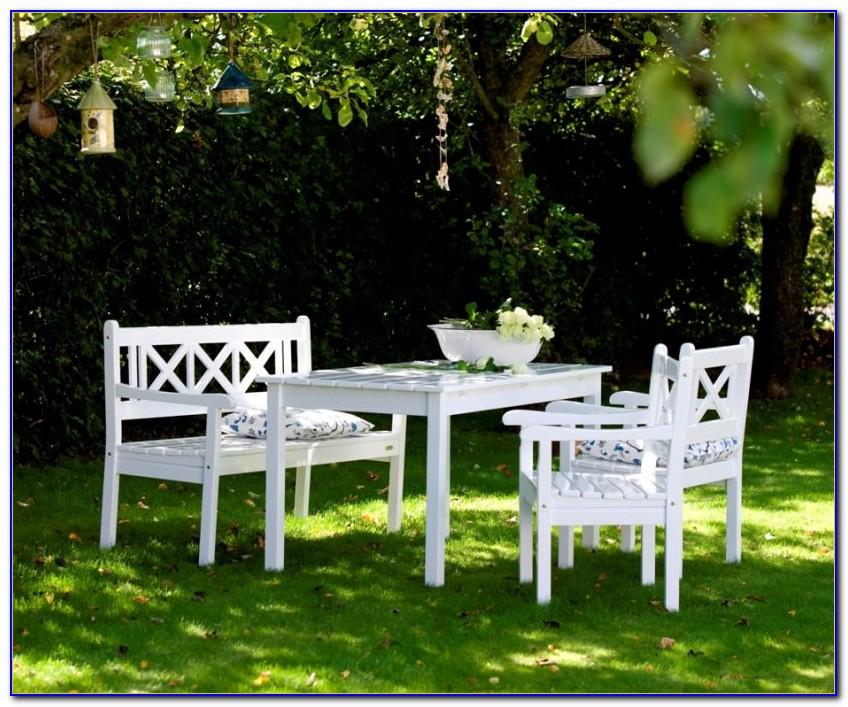 Gartenmöbel Holz Weiss Lackiert
