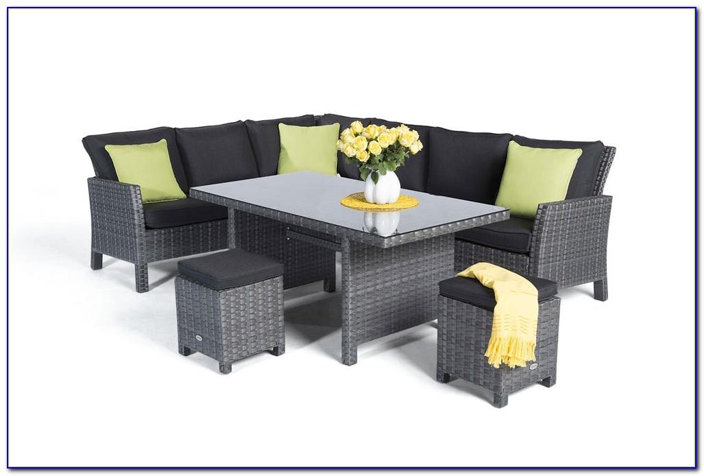 Gartenmöbel Lounge Rattan Grau