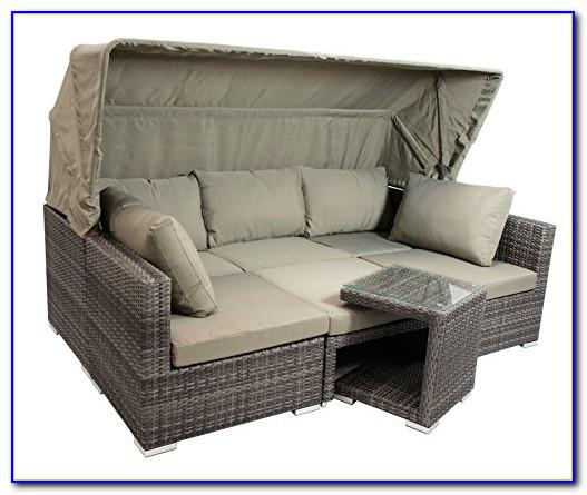 Gartenmöbel Lounge Set Braun