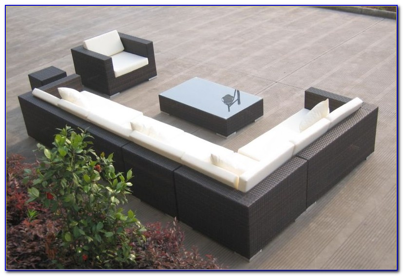 Gartenmöbel Polyrattan Lounge Set