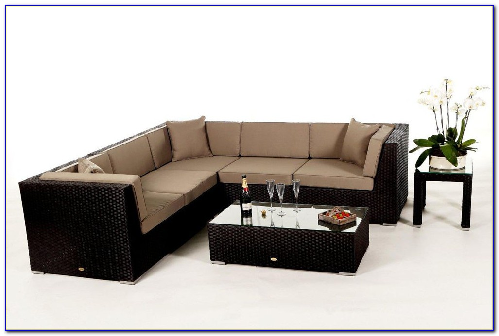 Gartenmöbel Rattan Lounge Braun