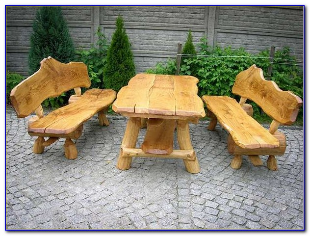 Gartenmöbel Rustikal Aus Holz