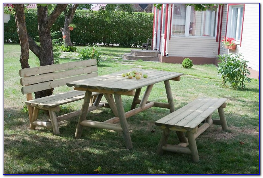 Gartenmöbel Rustikale Holzbank