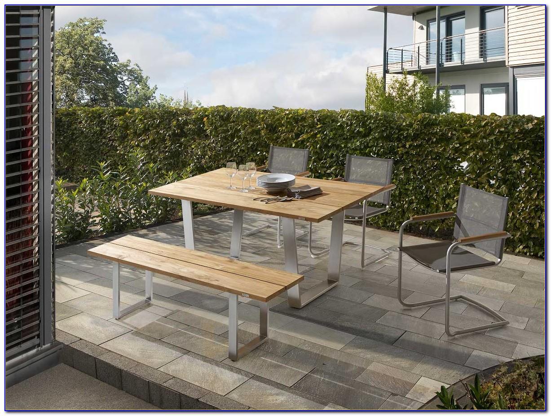 Gartenmöbel Set Edelstahl Holz