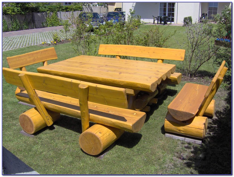 Gartenmöbel Set Holz Rustikal