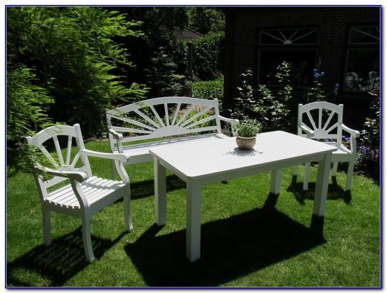Gartenmöbel Set Holz Weiss
