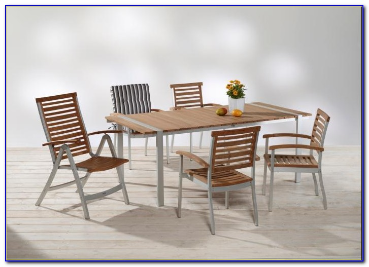 Gartenmöbel Set Metall Holz