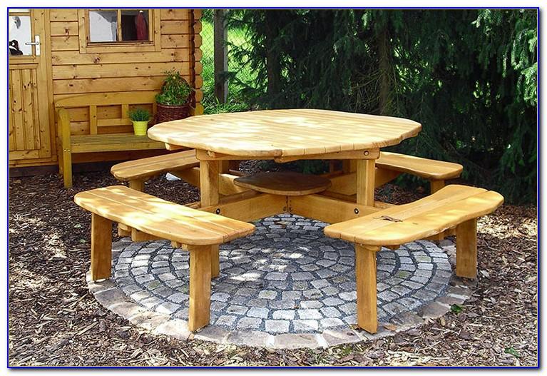 Gartenmöbel Tisch Rund Weiß