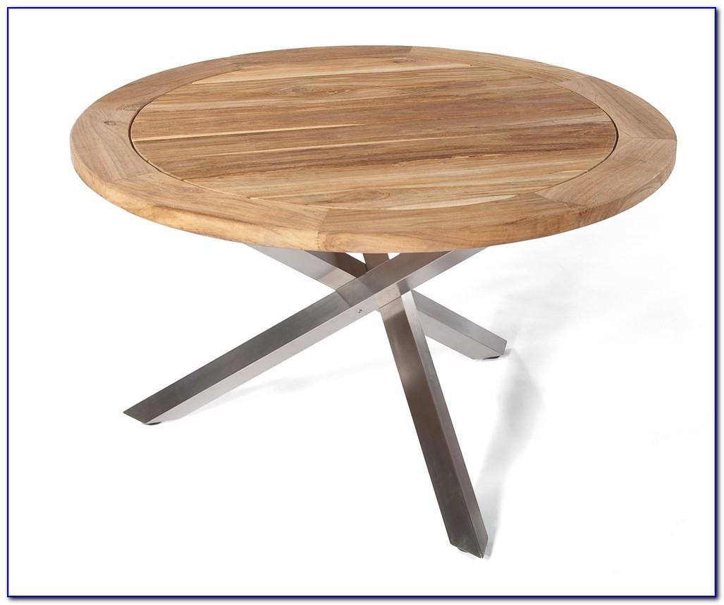 Gartenmöbel Tisch Teak Edelstahl