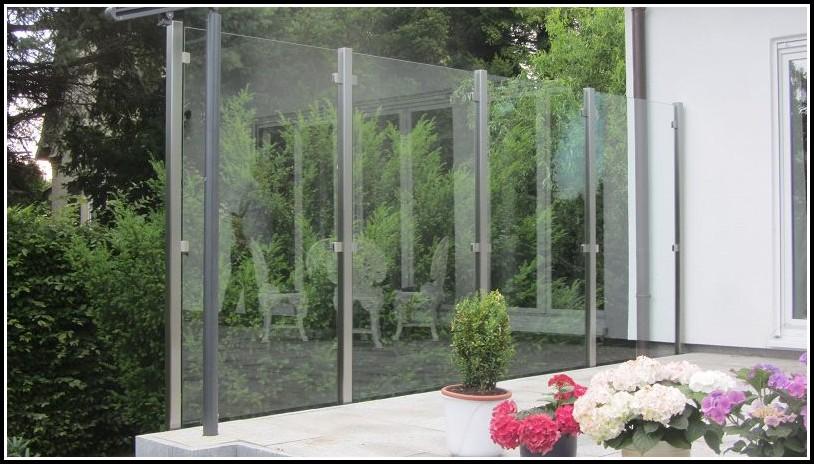 Glas Balkon Terrasse Windschutz