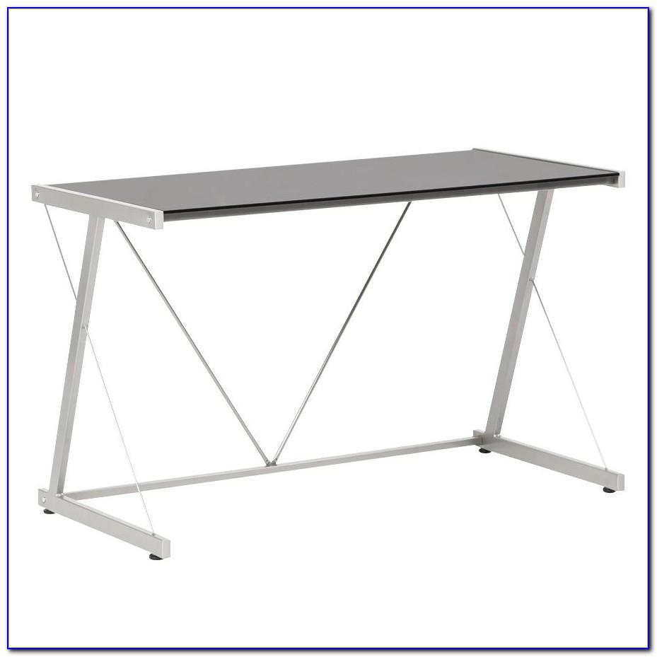 Glas Schreibtisch Metallgestell